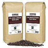 Coffee Masters Chicchi di Caffè Espresso e Integrale (4x1kg) - Fairtrade