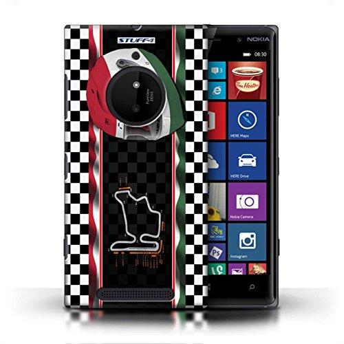 Kobalt® Imprimé Etui / Coque pour Nokia Lumia 830 / UK/Silverstone conception / Série F1 Piste Drapeau Hongrie/Budapest