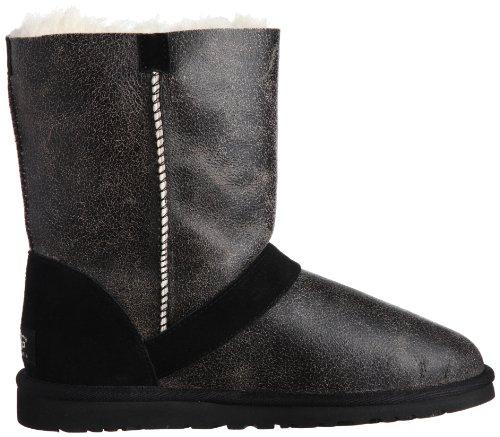 Ugg® Australia Classic Short Dylyn Damen Stiefel Schwarz Bomber Jacket Schwarz
