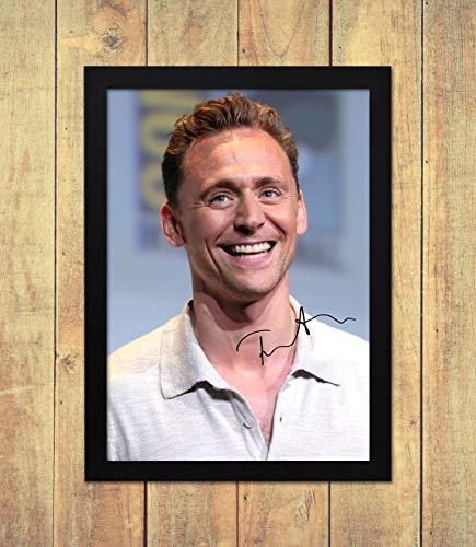 Tom Hiddleston - Loki 1 - High Gloss Printed Poster - A4 (210 x 297 mm) Personalised Framed