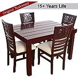 Furny Montoya Solid Wood Dining Table Set 4 Seater (Teak Wood)