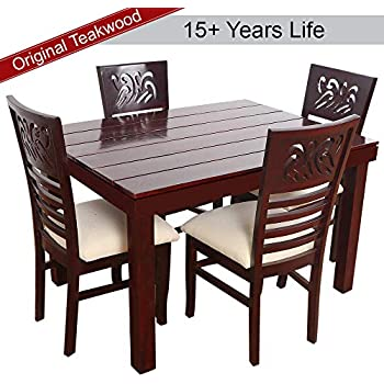 1bbef55604f8 home by Nilkamal Peak Four Seater Dining Table Set (Cappucino ...