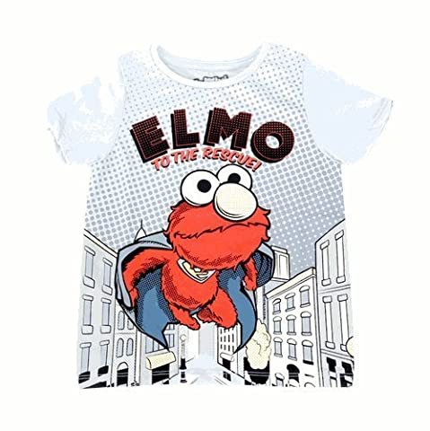 Sesame Street Elmo To The Rescue Todler T-Shirt With Cape (Kleinkind 2T)