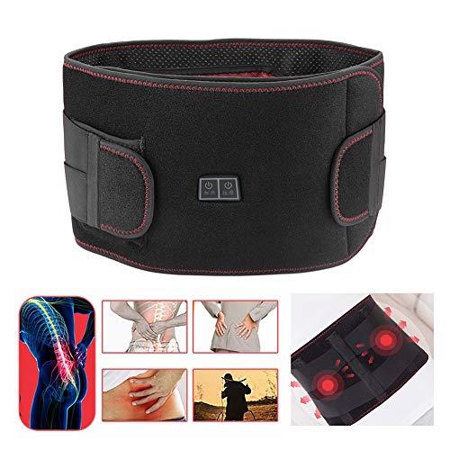 Semme Heizung Taille Gürtel Wrap, unterer Rücken Wärmegürtel & Lendenwirbel Erhitzt Taille Bauch Unterstützung Massage Brace(L)
