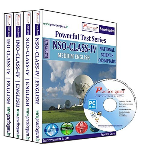 Practice Guru Class 4 - Combo Pack (IMO/NSO/IEO/NCO) Test Series (CD)  available at amazon for Rs.699