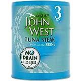 John West Steak De Thon En Saumure Pas De Drain (3X130G)