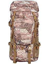 viajes Mochila al aire libre Sports Mountaineering bolsa de hombro bolsa impermeable hombres y mujeres viajes de senderismo Capa de gran capacidad camuflaje mochila 80L al aire libre ( Color : C )