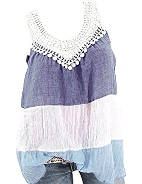 Hibote Ropa de Mujer Tops y Camisetas Tank and Camis Fashion Women Summer Vest Top Sin Mangas Casua Tank Tops