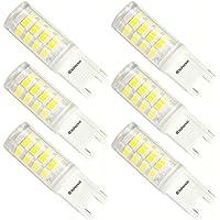 Kakanuo Lampadine LED G9 3W Equivalenti a 40W 400LM Bianco Freddo 6000K Non-Dimmerabile AC100-265V Risparmio Energetico 6Pezzi