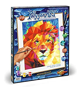 Schipper 609460738 - Pintura de Cabeza de león (poligona), diseño de Tabla de números