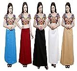 #9: Pistaa's Women's Cotton Straight Petticoat (Cptctbdmrnblkowskin_Multicolor_Free Size)