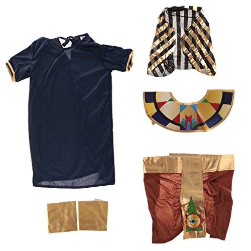 Gazechimp Ägyptischen Pharao Kinder-Kostüm Set - (Ägyptischen Pharao Kostüme Halloween)