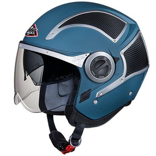 SMK MA5CA Phoenix Open Face Helmet (Matt Blue, M)