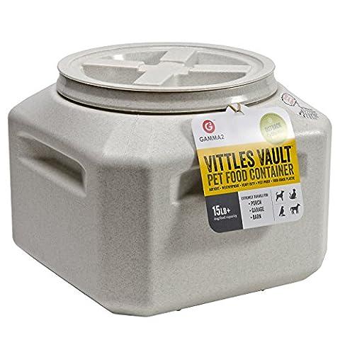 Gamma Vittles Vault Pet Feed Plastic Storage Airtight Seal Keeps Food Fresh 15lb