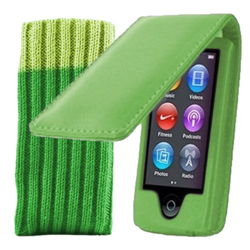 kolay-ipod-nano-7g-case-green-leather-flip-case-cover-for-apple-ipod-nano-7th-gen-generation