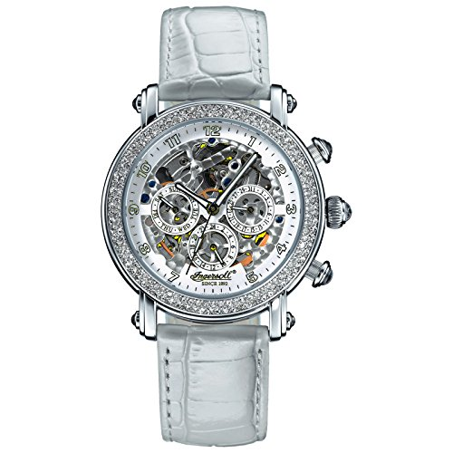 Ingersoll Women's Wristwatch Skeleton Watch Automatic White