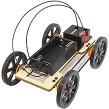 Internet Big Wheel 4WD Vehículo de juguete Coche DIY Artilugio educativo de los niños del kit Hobby Funny (negro)