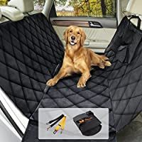 Housse voiture chien/chat, Morpilot Protection de siège auto imperméable anti-rayures - Sac amovible + 2 Ceintures sécuritaires (147cm x 137cm) Taille universelle pour Voiture Camion SUV