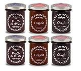 Sicilian Factory Confetture Extra 6 vasi x240g-2 Frutti di Bosco, 2 Fragola,2 Ciliegia, senza pectina aggiunta, Frutta fresca in altissime percentuali.