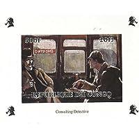 Sherlock Holmes et le Dr Watson menthe jamais montés non perforée timbre mini- feuillet / République du Congo / 2013