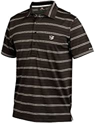 Wilson Classic Dry Mens Striped Polo - Black Large
