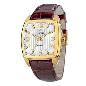 Reloj Festina F6754/A automático para hombre con correa de piel, color marrón de Festina