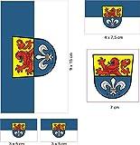 U24 Aufkleberbogen Darmstadt Aufkleber Set Flagge Fahne
