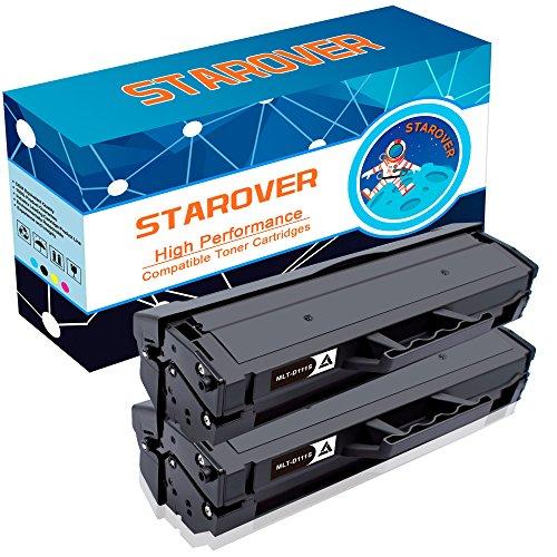 STAROVER 2 Packungen Kompatible Schwarze Tonerkartuschen Ersatz für MLT-D111S Toner für Samsung Xpress SL-M2020 SL-M2020W SL-M2021 SL-M2021W SL-M2022 SL-M2022W SL-M2026 SL-M2026W SL-M2070 SL-M2070W SL-M2070F SL-M2070FW SL-M2071 SL-M2071W SL-M2071FH, 1000 Seiten pro Schwarz