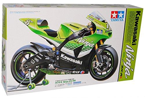 Kawasaki Ninja ZX-RR Nr 55 Grün 14109 Kit Bausatz 1/12 Tamiya Modell Motorrad mit individiuellem Wunschkennzeichen