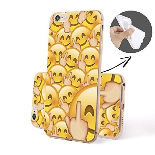 Emoji - Molti Emoji SILICONE, iPhone 6/6S Plus Dito medio Emoji SILICONE