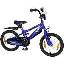 """'Bicicletta bambino 16""""(40,6cm) Little Dax"""" Timmy blu cavalletto laterale"""