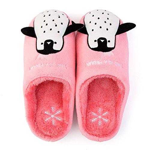 DogHaccd pantofole,Home Inverno cartoon caldo cotone pantofole soggiorno femmina di spessore, antiscivolo carino coppia pantofole in lana per gli uomini,Grigio chiaroRosa chiaro Grigio chiaro1