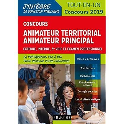 Concours Animateur territorial, animateur principal - Concours 2019: Externe, interne, 3e voie et examen professionnel