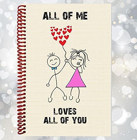 All of me Love All of You–Fun, romantique personnage ordinateur portable, cadeau Saint Valentin
