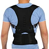 Brrnoo Corrector de Postura Unisex con Imán, Correas Ajustables para Espalda Lumbar, Chaleco de Correccion para Corregir el Jorobado(S)