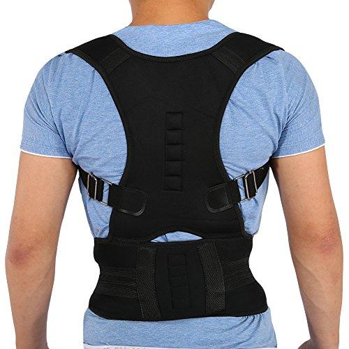 Brrnoo Correttore Postura unisex con magnete, Gambe regolabili per schiena lombare, Gilet di correzione per correggere il gobbo (L)