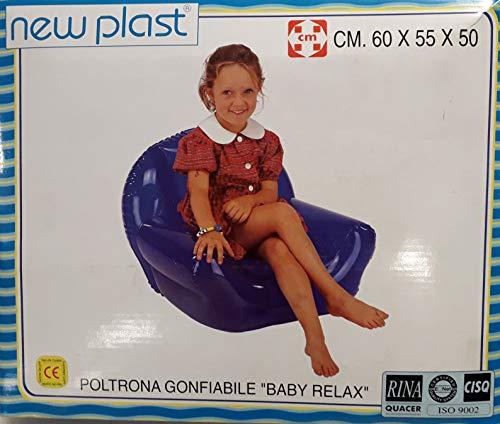 New Plast Fauteuil pour Enfants Gonflable modèle Baby Relax marquage extérieur Couleur Rose