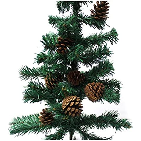 XYXY Navidad pino conesdecorative colgante árbol de Navidad accesorios creativos adornos navideños no contiene un árbol . a . 3-4cm
