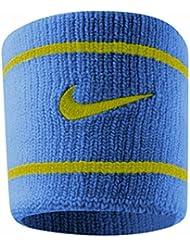 Nike Dri-Fit Muñequera, color  - Military Blue/Venom, tamaño talla única