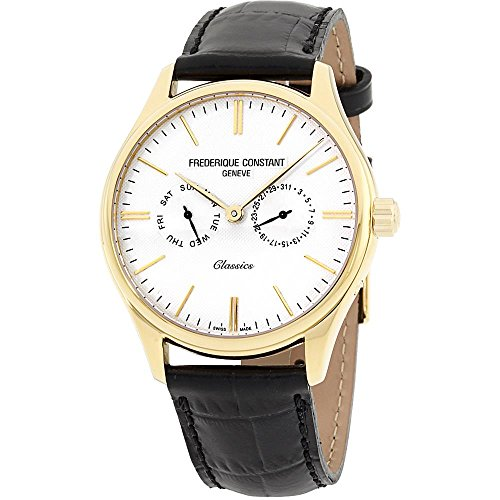 Frederique Constant Men's Classics 39mm Leather Band Quartz Watch FC-259BST5B5