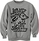 Raze London Kitty Big Bang Theory Unisex Sweatshirt mit Katzenmotiv, Grau - grau - Größe: Large