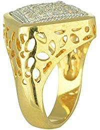 Omkar Creations Festive Gold Plated Ring For Men - Size: 17 (Omj-45)