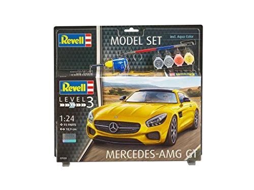 Revell Modellbausatz Auto 1:24 - Mercedes-Benz AMG GT im Maßstab 1:24, Level 3, originalgetreue Nachbildung mit vielen Details, , Model Set mit Basiszubehör, 67028
