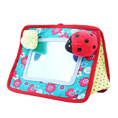 Egosy Baby Spiegel Spielzeug 2-in-1 Krippe und Bodenspiegel Säuglingsentwicklung Spielzeug Geschenk