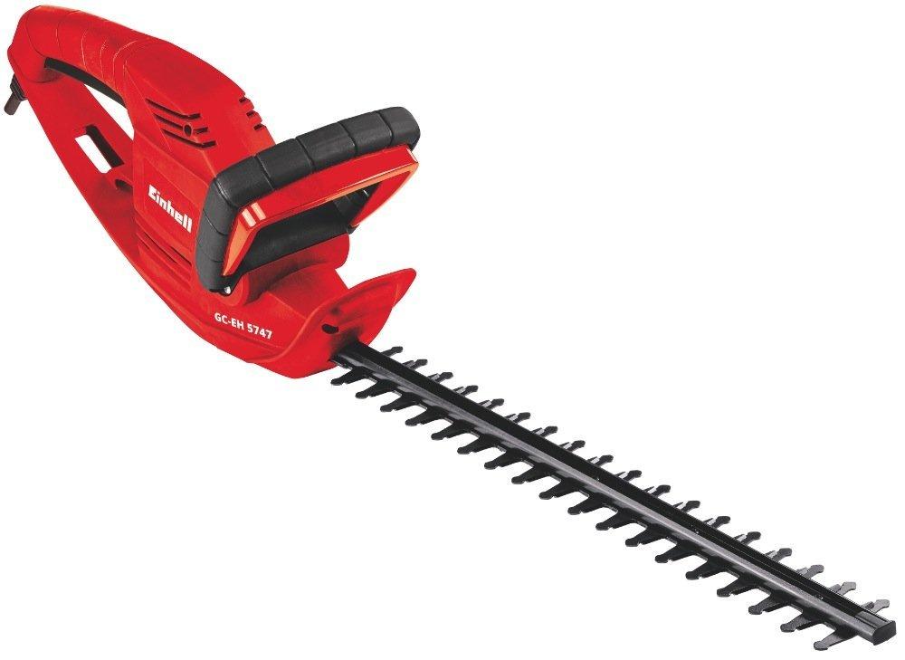 Einhell GC-EH 5747 – Recortasetos eléctrico, 570W (longitud de corte: 465mm, longitud de la hoja: 530mm, espacio entre dientes: 18mm) (ref.3403742)