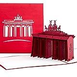 """'Pop Up carte """"Berlin–Porte de Brandebourg–Bon d'achat, carte de voyage Bon d'achat, 3D, Invitation, cartes Bon d'achat Carte Carte de voeux, carte d'invitation, Berlin, carte cadeau anniversaire..."""