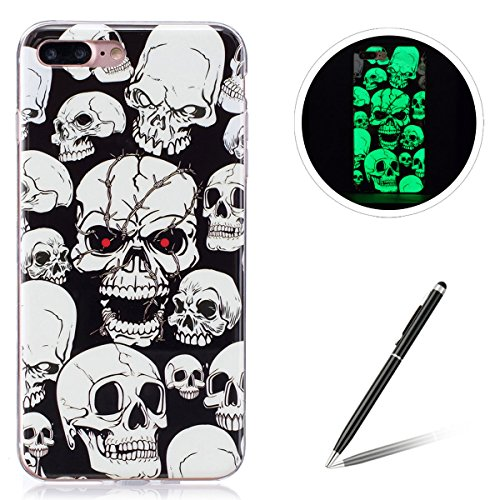 Feeltech for iPhone 7Plus/iPhone 8Plus Luminous TPU Hülle-Skull