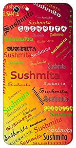 Sushmita (Popular Girl Name) Name & Sign Printed All over customize & Personalized!! Protective back cover for your Smart Phone : Samsung Galaxy Note-3