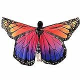 XXYsm Schmetterling Kostüm Zubehör Kinder Baby Mädchen Tanzkostüm Leistung Elf Flügel Umhang L 235 * 170CM
