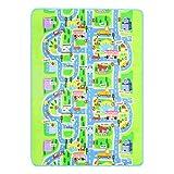 LIOOBO 200x160CM Rechteckige Feuchtraum Teppich Stadt Design Tragbare Kinder Baby Gym Spielmatten Krabbeln Boden Teppich Decke für Kleinkinder Kleinkinder